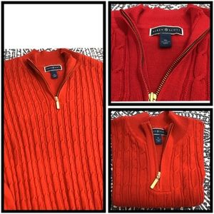 Karen Scott | Half-zip Knit Sweater | XL